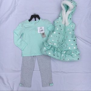 Other - 3 piece puffer vest set - 3T - NWT!